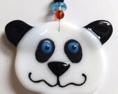 Panda Fused Glass Ornament