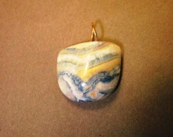 Lapis Lace Onyx Pendant silver bail 53ct