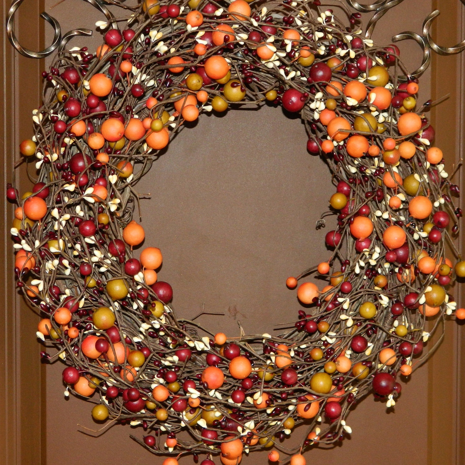 Fall Wreath Fall Door Decor Autumn Door Wreath