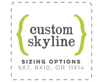 custom city skyline print | custom city skyline art | city skyline art print | city skyline wall art | city skyline decor