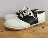 Black + White Retro Saddle Shoes 9