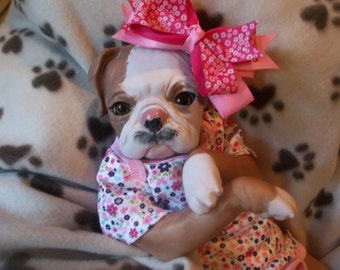 Reborn custom made to order puppy dog doll only 2 left!