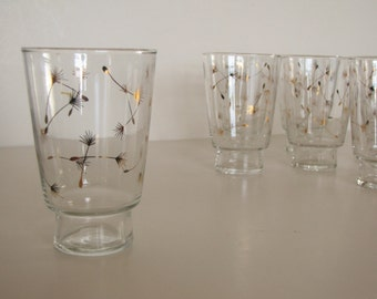 Vintage Set of 10 -  Mid Century Clear Glass Tumblers / Glasses / Barware