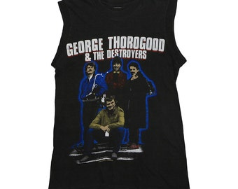 George Thorogood & The Destroyerst 1983  84  t Shirt Vintage rock and roll tee 1980s