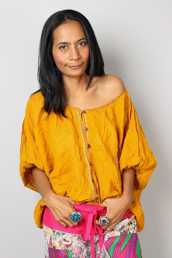 Yellow Evening Blouse 45