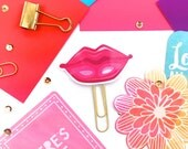 Planner Paper Clip - Sexy Pink Lips Novelty Magnets & Planner Accessories - Party Gifts, Party Favors | Gift for Teens - Valentine Gifts