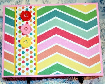 Bright Chevron Card for Any Occasion  20160018