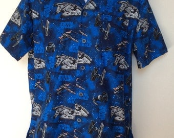 Men's buttoned shirt in Star Wars print