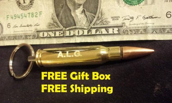 308 bullet bottle opener engraved keychain groomsmen gift. Black Bedroom Furniture Sets. Home Design Ideas