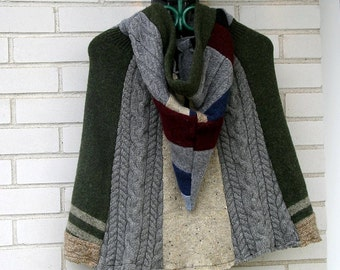 "Vintage Upcycled Wool Pixie Cape by ""The Sitting Tree"""