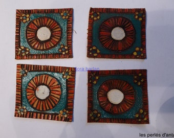 4 leather squares 1930