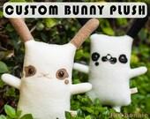 Custom bunny stuffed animal, Customized rabbit plush doll, pet bunny clone, personalized bunny toy, Bunny stuffy cuddle toy