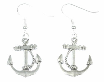 [BUNDLE] [OR00436] Anchor with rope 2 earrings earrings of Miniblings maritime boat ship anchor earrings