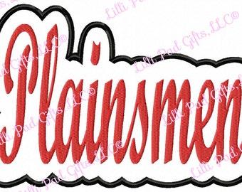 Plainsmen - Outline Applique - Machine Embroidery Design - 7 sizes