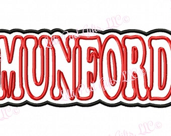 MUNFORD - Bubble Double Applique - Machine Embroidery Design - 5 sizes