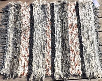 Fuzzy Handwoven Rug