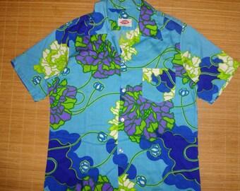 Mens Vintage 70s Pomare Hawaii Hawaiian Aloha Shirt - L - The Hana Shirt Co