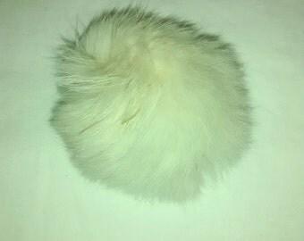 Vintage bunny fur pom pom