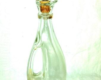 Large Glass Perfume Bottle Vanity Decanter Art Deco