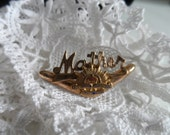 WW2 Mother brooch  9ct silver lined