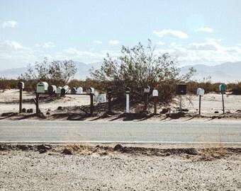 Boîtes aux lettres dans le désert- Californie