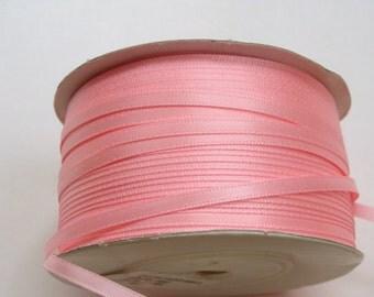 "1/8"" Satin Ribbon - Pink - Whole Spool - 100 yds"