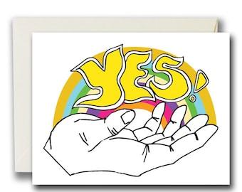 Yes! Rainbow, Card