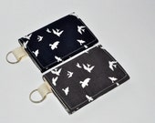 SALE! Stocking Stuffer Gift Card Holder - Sparrow Business Card Case - Keychain Wallet - Business Card Holder - Gift for Her - Teacher Gift