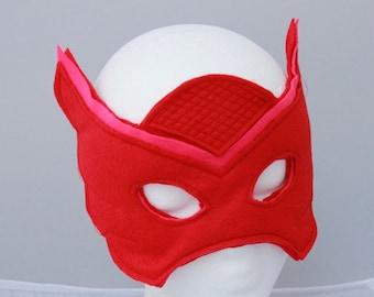 Owlette Mask - Felt Mask owlette - Owl felt mask for owlette costume