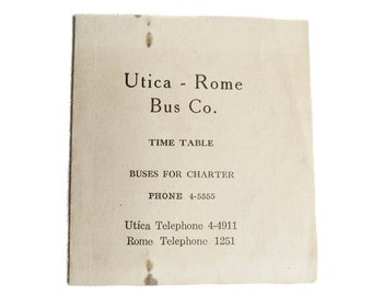 all utica rome bus schedules - photo#1