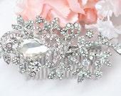 SWAROVSKI  Crystal head piece , Crystal hair comb , Bridal head piece , Bridal hair comb