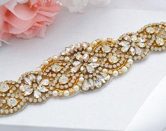 GOLD SALE Wedding Belt, Bridal Belt, Sash Belt, Crystal Rhinestones sash belt