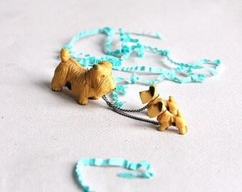 Vintage Miniature Celluloid Scottie Terrier Dogs