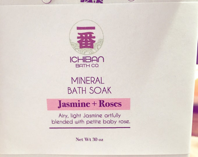 Ichiban Mineral Bath Soak. Therapeutic Epsom Salt with Sea Salt.