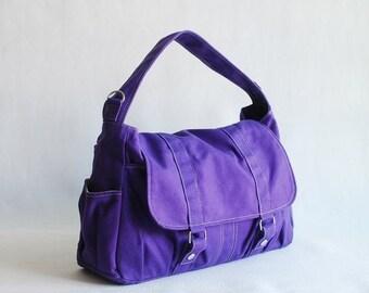 Halloween SALE - 30% Pico2 in Purple (Water Resistant) Purse  Shopping Bag  Shoulder Bag/ Messenger Bag/ Diaper Bag/Diaper Bag/ School Bag/