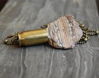 African Queen Jasper Bullet Necklace
