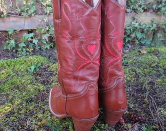 Vintage Dingo 1980s Queen of Heart Boots Size 7 Amazing Condition!