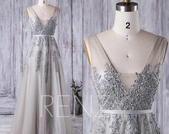 Gray Bridesmaid Dress Etsy