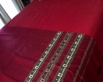 Beautiful red Indonesian cotton runner