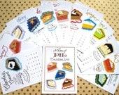 2017 Calendar, Pie Calendar, Desk Calendar, Gift for Baker, Stocking Stuffer, Pie Art Calendar