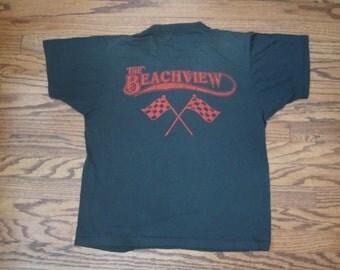 70s Vintage Beachview Turtle Races T-shirt