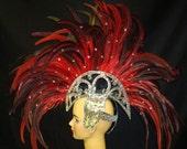 Mohawk Drag Queen Dress Cabaret Showgirl Headdress
