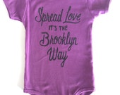 Purple, Spread Love it's the Brooklyn Way, Baby Onesie