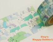 On Sale - Polar Bear - Japanese Washi Masking Tape - 20mm Wide - 11 yard