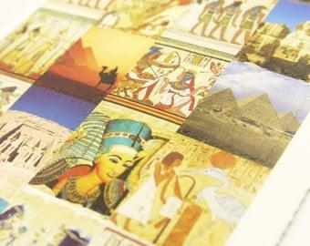 Paper Deco Sticker Set - ancient civilization - Stamp Shape - 4 Sheets in different designs
