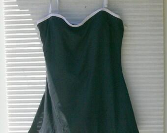 one pc black bathing suit size 14