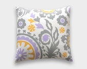 70% Off CLEARANCE Purple Decorative Pillow Cover. 16x16 inches. Lavender Mosaic. Tetris. Geometric. Throw Cushion Cover