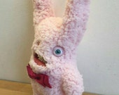 Pink Rabbit - Handmade and OOAK - Uncanny Creature /Ready to ship/ Quirky Uncanny Scary Creepy Cute