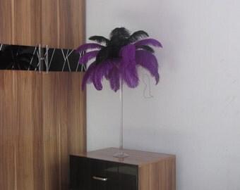 100pcs Purple Ostrich Feather Plume for Wedding centerpieces,