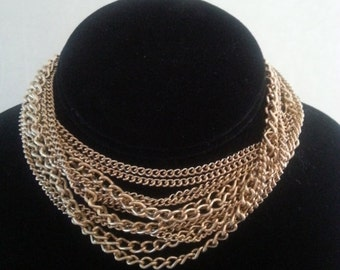 Now On Sale 3 Strand Long Necklace ~ 1960's Vintage Jewelry ~ Old Hollywood Glam ~ Mad Men Mod ~ Retro Rockabilly